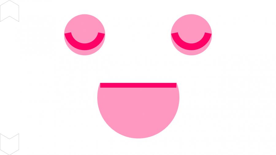00016[自立活動]画面さん(ピンク・まばたき)