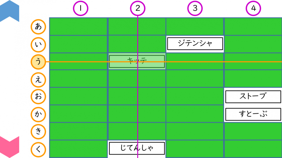 02009[国語]ひらがな⇔カタカナ神経衰弱ゲーム(行列しるし付き)