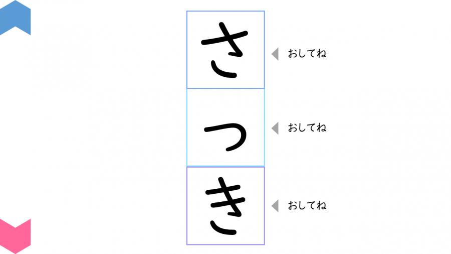 02012[国語]ことばをつくろう(ひらがな3字(か・さ・た行))