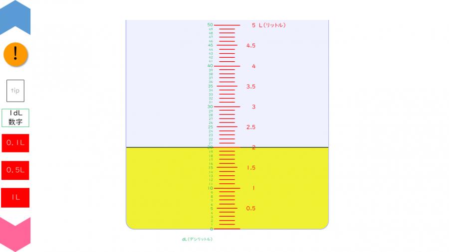 04027[数学]分解目盛り(dL)