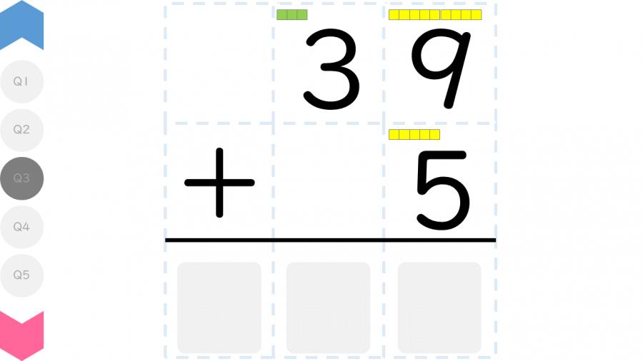 04034[数学]タイルが動く筆算 (2位数+1位数・2位数)