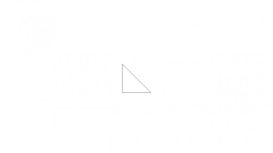 A072[TUP]押すと色が変わる直角三角形(2色)