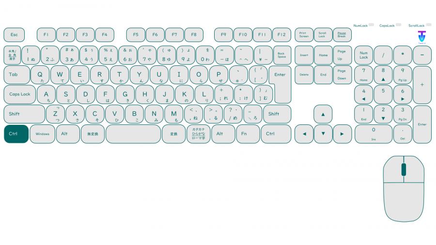 Z001[NOP]パワポキーボード(Windows)